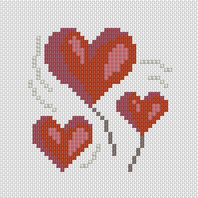 Сердечки. Схема, материалы