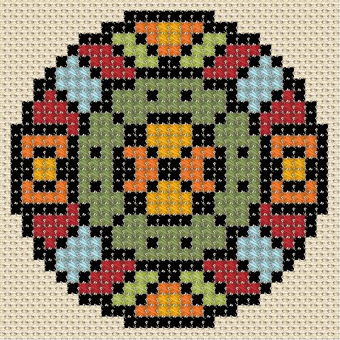 Легкие схемы вышивки крестом узоры