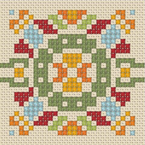 Простой узор вышивки крестом